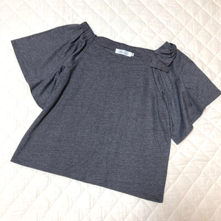 クチュールブローチ(Couture Brooch)の【中古】クチュールブローチ⋆*✩⑅肩リボンカットソー(カットソー(半袖/袖なし))