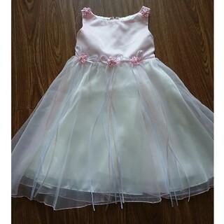キッズ ドレス 新品タグつき ピンク 発表会 コンクール パーティー  おまけ(ドレス/フォーマル)