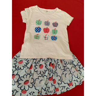 ボーデン(Boden)のmini  boden 5-6y  Tシャツ スカート セット(ワンピース)