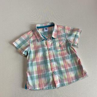 プチバトー(PETIT BATEAU)のPETIT BATEAU  半袖 シャツ(シャツ/カットソー)