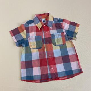 プチバトー(PETIT BATEAU)のPETIT BATEAU  半袖シャツ(シャツ/カットソー)