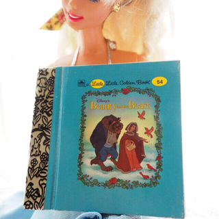 Disney - 90年代 ミニチュア本 ゴールデンブック 美女と野獣