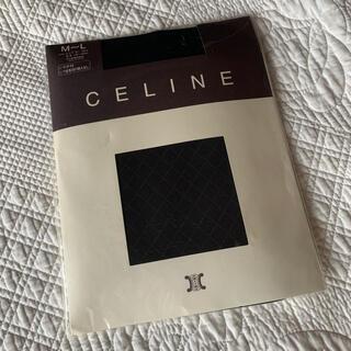 セリーヌ(celine)のセリーヌ celine CELINE タイツ チェック柄 ブラック(タイツ/ストッキング)