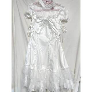 BODYLINE - ボディライン チュール重ねワンピース ホワイト 衣装  ロリータ コスプレ