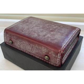 エムピウ(m+)の財布 エムピウ M+ ゴーストレザー ボルドー ミッレフォッリエ (折り財布)