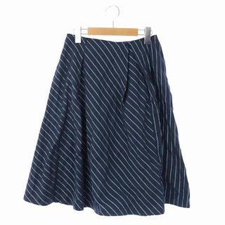 UNTITLED - アンタイトル  NALYA ストライプスカート フレア ロング 1 紺 ネイビー
