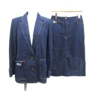 レオナール(LEONARD)のレオナール スーツ デニム テーラードジャケット スカート 9AB2 64cm(スーツ)