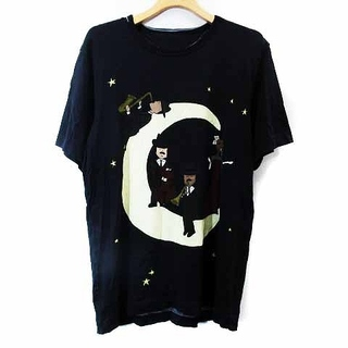 ドルチェアンドガッバーナ(DOLCE&GABBANA)のドルチェ&ガッバーナ ドルガバ Tシャツ カットソー 半袖 プリント 紺(Tシャツ/カットソー(半袖/袖なし))