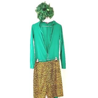コスプレ 仮装 節分 鬼 衣装 雷様 高木ブー DX緑鬼スーツセット(衣装一式)