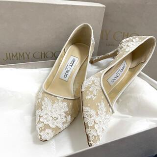 JIMMY CHOO - 【ほぼ新品】JIMMY CHOO レースヒール