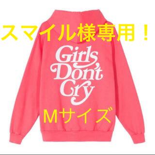 ジーディーシー(GDC)のgirlsdontcry メンズパーカー(M) Pink×White(パーカー)