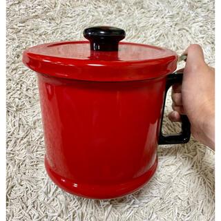 富士ホーロー - 富士ホーロー オイルポット 1.5L 油こし器 レッド
