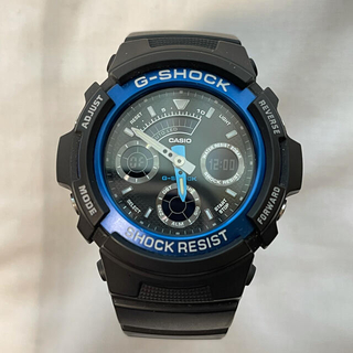 ジーショック(G-SHOCK)の美品 CASIO G-SHOCK ジーショック AW-591 ブルー(腕時計(デジタル))