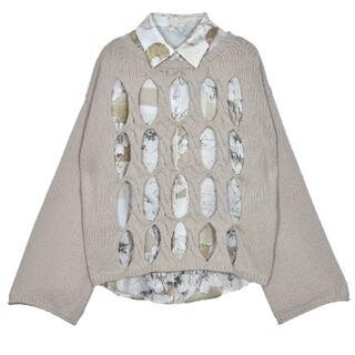 アメリヴィンテージ(Ameri VINTAGE)のAmeriVINTAGE 完売品 2wayシャツセットニットトップス(ニット/セーター)