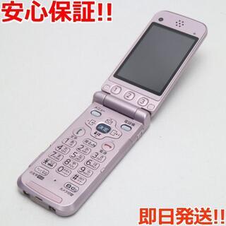フジツウ(富士通)の美品 F884iES ラベンダー 白ロム(携帯電話本体)
