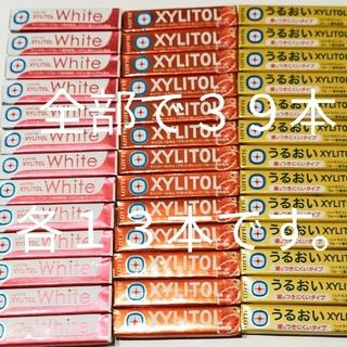 ガム 39本 ロッテ キシリトールホワイト、オレンジ、シトラスミント 各13本(菓子/デザート)