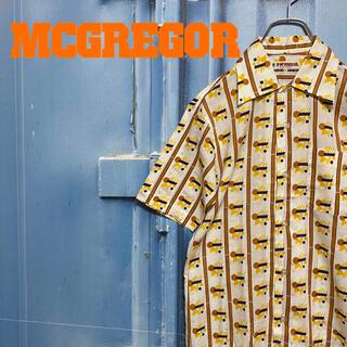 マックレガー(McGREGOR)のマックレガー McGREGOR 半袖シャツ 総柄 マルチカラー イエロー 古着(シャツ)