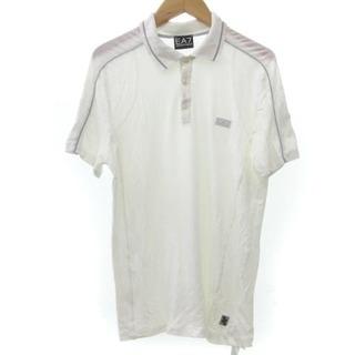 エンポリオアルマーニ(Emporio Armani)のエンポリオアルマーニ EA7 ポロシャツ ニット 半袖 白  XS-S相当(ポロシャツ)