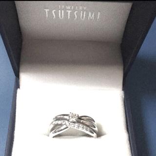 ジュエリーツツミ(JEWELRY TSUTSUMI)の鑑定書付き ダイヤモンドリング PT900(リング(指輪))