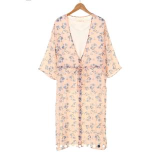 chocol raffine robe - 美品 chocol raffine robe 花柄カーディガン F