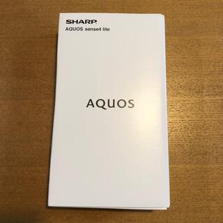SHARP - 送料無料 【新品】AQUOS sense4 lite ブラック SIMフリー 黒