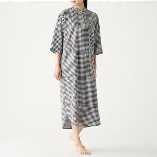 ムジルシリョウヒン(MUJI (無印良品))のインド綿 薄手ガーゼ 七分袖クルタ(ルームウェア)