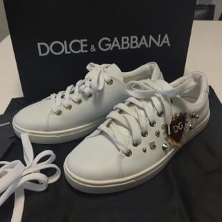 DOLCE&GABBANA - DOLCE&GABBANA♥ハートスタッズスニーカー👟