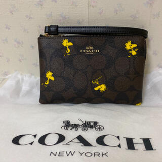 COACH - COACH コーチ スヌーピー ウッドストック ポーチ 新品