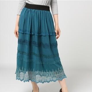 axes femme - アクシーズ 裾刺繍 スカート