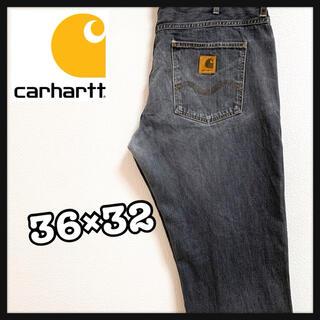カーハート(carhartt)の90s Carhartt カーハート デニム ワイドパンツ ビンテージ ブルー(デニム/ジーンズ)