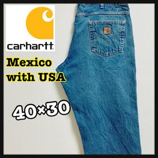 カーハート(carhartt)の90s Carhartt カーハート デニム ワイドパンツ インディゴ ブルー(デニム/ジーンズ)