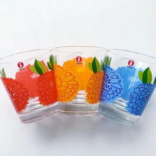 マリメッコ(marimekko)の【お取引中】マリメッコ  イッタラ グラス 3点セット(グラス/カップ)