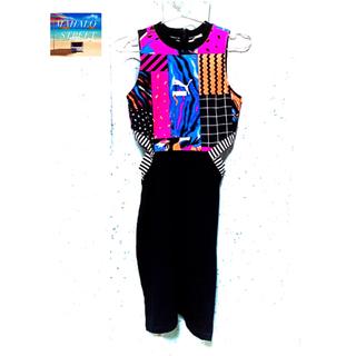 プーマ(PUMA)のPUMA プーマ CLASH AOP ドレス 579588(ひざ丈ワンピース)