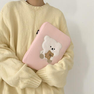 バムトリー新品未使用♡韓国雑貨 バムトリー くま タブレットケース・13inch(タブレット)