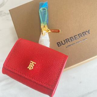 バーバリー(BURBERRY)のラスト1【新品】BURBERRY AirPodsケース キーホルダー付き 赤(その他)