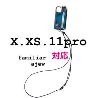 ファミリア(familiar)の新品 ajew familiar 別注 iPhoneケース X.XS.11pro(iPhoneケース)