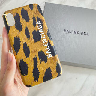 バレンシアガ(Balenciaga)の残り1【新品】BALENCIAGA ヒョウ柄 iPhoneケース iPhoneX(iPhoneケース)