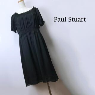 ポールスチュアート(Paul Stuart)のPAUL STUART ポールスチュアート ワンピース ウエストゴム ゆったり(ひざ丈ワンピース)