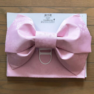 シマムラ(しまむら)の【新品未使用】浴衣 桜柄 ピンク 作り帯(浴衣帯)