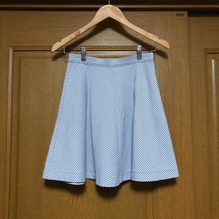 ユニクロ(UNIQLO)のユニクロ ストライプ フレアー スカート(ミニスカート)