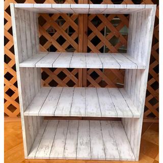 【リメイク】インテリアラック 木目調棚 DIY 組立 現品限り 在庫処分 値下げ(棚/ラック/タンス)
