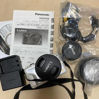 パナソニック(Panasonic)のパナソニックLUMIX DMC-GF3W-P ダブルレンズキット(デジタル一眼)
