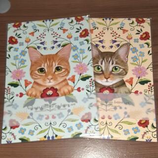 フェリシモ(FELISSIMO)のフェリシモ 猫とお花のレターセット 2つ(その他)