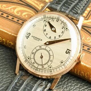 Hermes - ★超希少★OH済★エルメス レギュレーター 18KGP 手巻き 腕時計