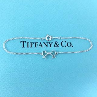 ティファニー(Tiffany & Co.)のTiffany & Co. ダブル ラビングハート ダイヤ ブレスレット 925(ブレスレット/バングル)