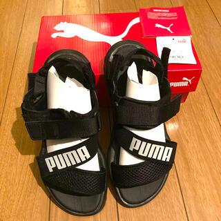 プーマ(PUMA)のプーマ トレイルサンダル 23cm 黒 箱付き(サンダル)
