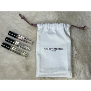 クリスチャンディオール(Christian Dior)のCHRISTIAN DIOR PARIS ディオール 香水 3点セット 試供品(サンプル/トライアルキット)