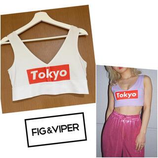 ベルシュカ(Bershka)の【FIG&VIPER】TOKYO ショートタンク(タンクトップ)