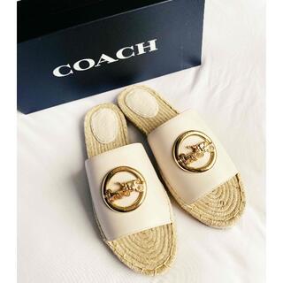 コーチ(COACH)のコーチCOACH♡サンダルホースバックル レザーエスパドリーユ23,5cm(サンダル)