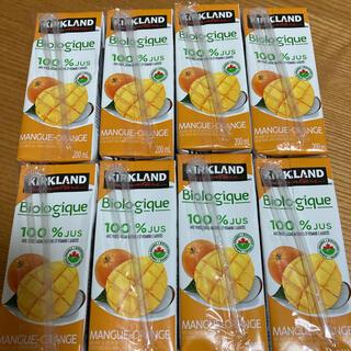 コストコ(コストコ)のコストコ オーガニックジュース マンゴー&オレンジ 8本セット(ソフトドリンク)